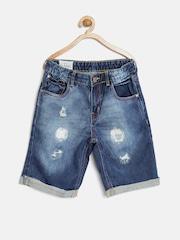 GJ Unltd Jeans by Gini and Jony Boys Blue Washed Denim Shorts