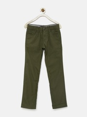 Indian Terrain Boys Olive Green Chino Trousers