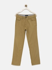 Indian Terrain Boys Tan Brown Chino Trousers