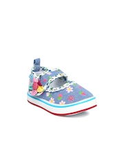 Kittens Girls Blue Printed Mary Janes