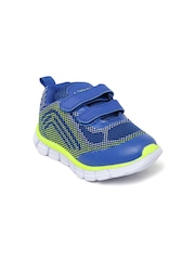 Kittens Boys Blue & Lime Green Printed Running Shoes