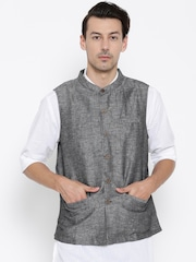 indus route by Pantaloons Grey Nehru Jacket