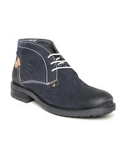 Numero Uno Men Navy Suede Boots