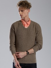 Tommy Hilfiger Men Brown Sweater