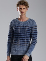 Tommy Hilfiger Men Blue Sweater
