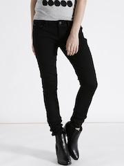 G-STAR RAW Women Black Super Skinny Fit Low Rise Clean Look Jeans