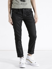 G-STAR RAW Women Black Skinny Fit Clean Look Jeans
