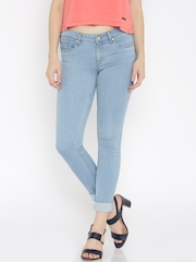 Allen Solly Woman Blue Skinny Fit Low-Rise Clean Look Jeans