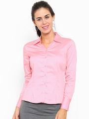 Allen Solly Woman Pink Regular Fit Solid Formal Shirt