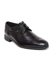 Van Heusen Men Black Leather Brogues