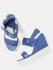 DressBerry Women Blue Wedges