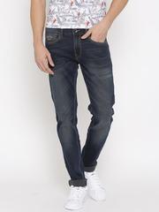 Pepe Jeans Men Blue Hatch Fit Low-Rise Jeans