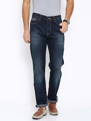 Pepe Jeans Men Navy Holborne Regular Fit Low-Rise Clean Look Jeans