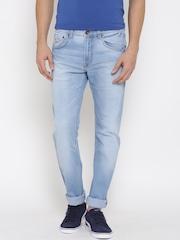 Pepe Jeans Men Blue Vapour Fit Low-Rise Jeans