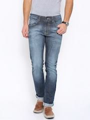 Pepe Jeans Men Blue Vapour Slim Fit Low-Rise Clean Look Jeans