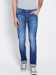 Pepe Jeans Men Blue Vapour Fit Low-Rise Clean Look Jeans