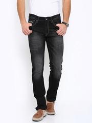 Pepe Jeans Men Black Vapour Fit Low-Rise Jeans