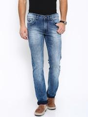 Pepe Jeans Men Blue Vapour Fit Mid-Rise Jeans