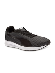 PUMA Men Black Burst Mesh Running Shoes