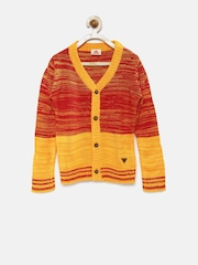 UFO Boys Red & Yellow Sweater