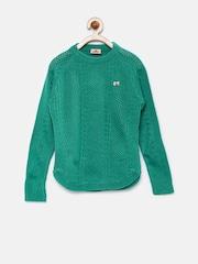 UFO Girls Green Sweater