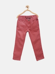 UFO Boys Coral Red Casual Trousers