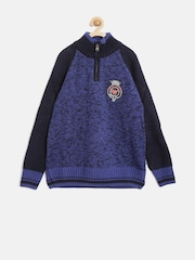 Wingsfield Boys Blue Patterned Sweater