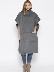 Silvian Heach Grey Melange Long Coat
