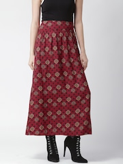 Silvian Heach Red Printed Maxi Skirt