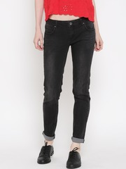 Silvian Heach Women Black Skinny Mid-Rise Jeans