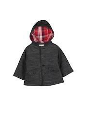 Beebay Boys Black Hooded Tailored Jacket