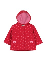 Beebay Girls Printed Corduroy Hooded Tailored Jacket