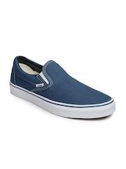 Vans Men Blue Classic Slip-On Sneakers