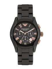 Emporio Armani Men Black Chronograph Dial Watch AR1410I