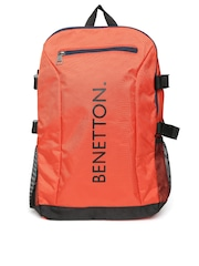 United Colors of Benetton Men Orange Backpack