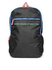 United Colors of Benetton Men Black Backpack