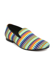 Franco Leone Men Multicolour Printed Slip-On Sneakers