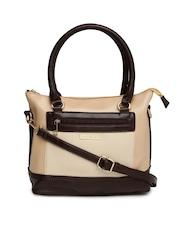 Addons Beige & Brown Handbag