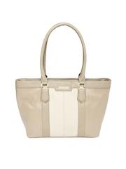 Addons Beige Textured Handbag