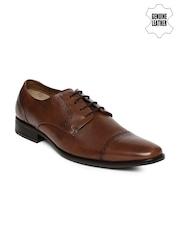 Ruosh Men Tan Brown Genuine Leather Semiformal Shoes