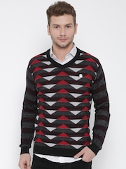 Fort Collins Men Black Printed Sweater