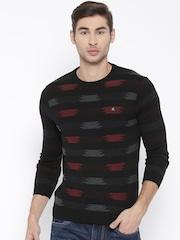Fort Collins Men Black Patterned Sweater