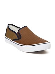 FILA Men Brown Ryder Slip-Ons