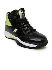 FILA Men Black Basketball Shoes