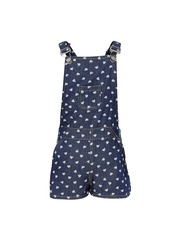 naughty ninos Girls Blue Printed Denim Dungarees