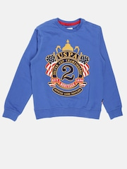 U.S. Polo Assn. Kids Boys Blue Embroidered Sweatshirt