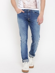 Allen Solly Men Blue Tapered Fit Mid-Rise Clean Look Jeans