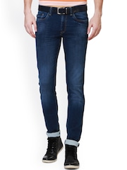 Allen Solly Men Navy Blue Skinny Fit Low-Rise Clean Look Jeans