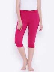 SDL by Sweet Dreams Pink Smart Fit Lounge Capris F-LLC-8129-