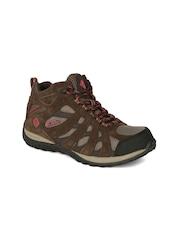 Columbia Women Brown Redmond Waterproof Mid-Top Trekking Shoes